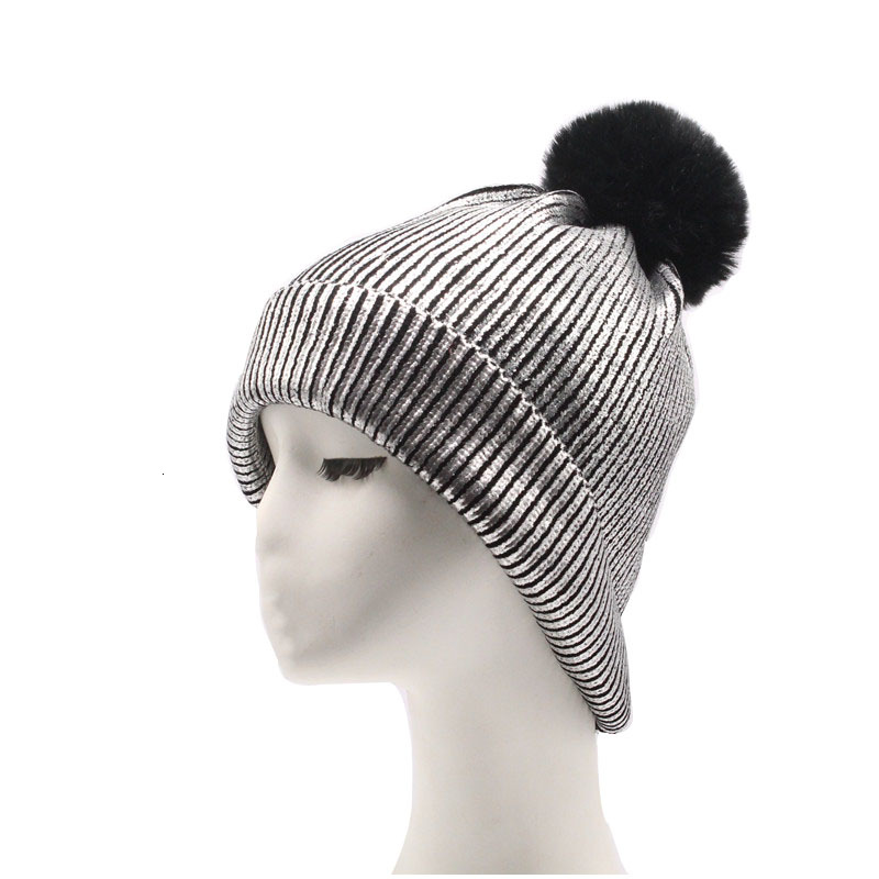 Winter Warm Ladies Knitted Hat Pom Pom Hats Beanie 2019 Winter Hats For Women Beanies Skullies  Female Balaclava With Pompon