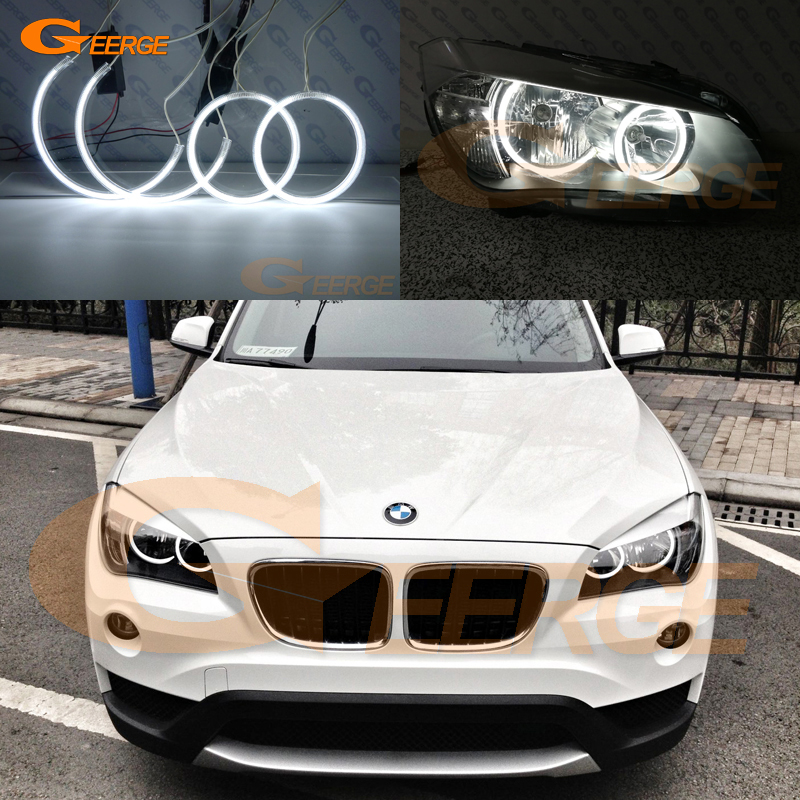 Excellent Compatible Ultra Bright CCFL Angel Eyes Halo Rings DRL For BMW X1 E84 2009 2010 2011 2012 2013 2014 2015 Halogen HD