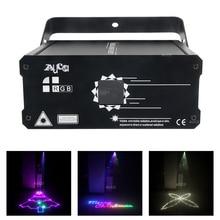 الموسيقى تأثير الإضاءة DMX RGB الرسوم المتحركة ماسح ليزر جهاز عرض الكريسماس ضوء DJ ديسكو حفلة شعاع أضواء Luce 500mW/1 واط