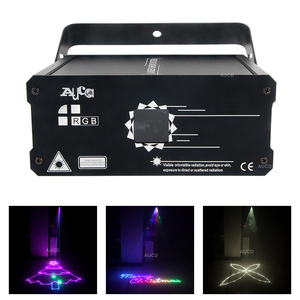 Image 1 - Music Effect Lighting DMX RGB Animation Scanner Laser Christmas Projector Light DJ Disco Party Beam Lights Luce 500mW/1W