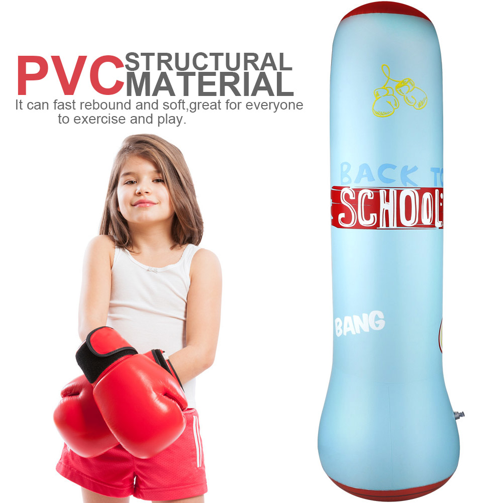 Inflatable Boxing Sandbag Free-standing Boxing Punching Bag Fitness Exercising Release Stress Toy For Children