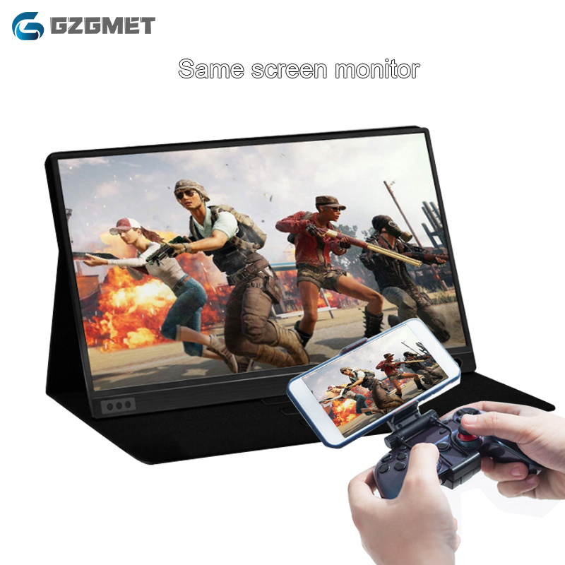 Tragbare Monitor 15,6 Zoll IPS LED Screen Display für HD PS4 XBOX One mit HD Typ-C USB Batterie laptop PC Monitor