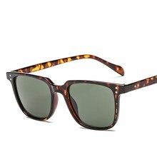 ZXWLYXGX-lunettes de soleil Design de marque pour hommes, pour pilote, Vintage, monture carrée, miroir, été UV400