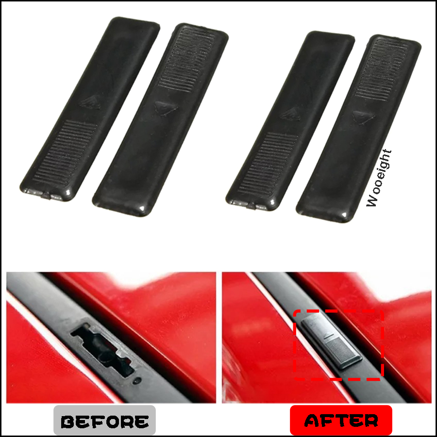 Wooeight 4Pcs Black Car Roof Rail Clip Rack Moulding Cover Strip Replacement Fastener Fit for Mazda 2 3 5 6 CX7 GJ6A-50-5A1