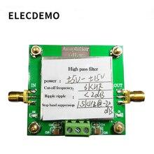 하이 패스 필터 모듈 8th order 필터링 컷오프 주파수 3 khz 인 밴드 리플 2db 스톱 밴드 거부 미만
