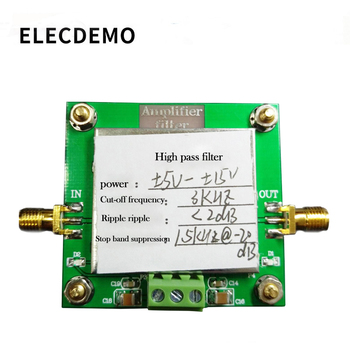High-pass filter module 8th-order filtering Cut-off frequency 3KHz In-band ripple less than 2dB Stopband rejection band pass filter module lc filter sma 0 1mz to 1200mhz