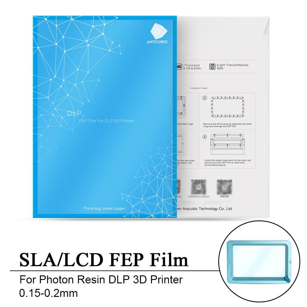 140x200 milímetros SLA/LCD Filme FEP Para Photon Resina DLP 3D Printer 0.15-0.2mm 3D peça Da impressora Suprimentos Acessórios