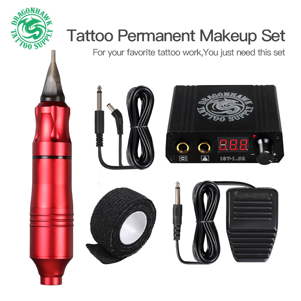 Top Selling Professional Tattoo Machine Rotating Pen Suit Tattoo Pen Mini Power Supply Foot Pedal Tattoo Supply Free Delivery
