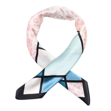 Four seasons women silk scarf square shawl headwrap lady hair neck scarves soft office bandana foulard satin neckerchief 70*70cm(China)