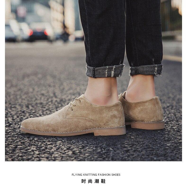 H2973305cf9b342cb9824a663cc1b50b4A Merkmak Fashion England Trend Casual Shoes Men Flock Oxford Wedding Leather Dress Men Flats Waterproof Men Shoes Plus Siz