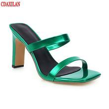 Туфли cdaxialn женские пикантные высокий каблук открытый носок