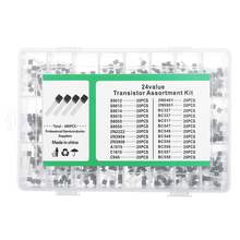 480Pcs 24 Types Silicon In-line NPN / PNP Transistor Assortm
