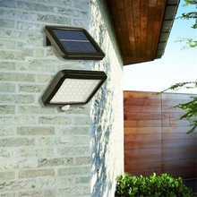 цена на 56 LED Pathway Solar Power Light PIR Motion Sensor Outdoor Wall Lamp Waterproof Energy Saving Outdoor IP65 Solar Security Lights
