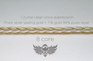 Image 3 - 1% الذهب + 99% الفضة النقية + الفضة النقية مطلي الذهب ، سماعة ترقية كابل MMCX 0.78 مللي متر 2PIN