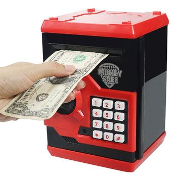 Children Password Electronic Piggy Bank Mini ATM Saving Money Coin Box Toy Gift Automatic Deposit Banknote Toys ict coin hopper dual sensor double protections money box electronic portable mini euro coin counter machine for arcade games