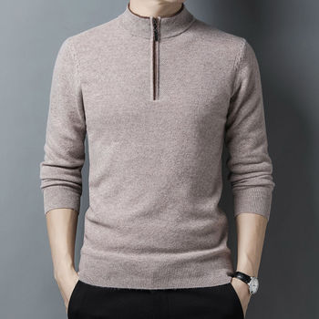 Fashion Men Sweater Winter High-end Quality Pure 100% Wool Content Korean Clothes Pullover Man Hot Sale sale 100