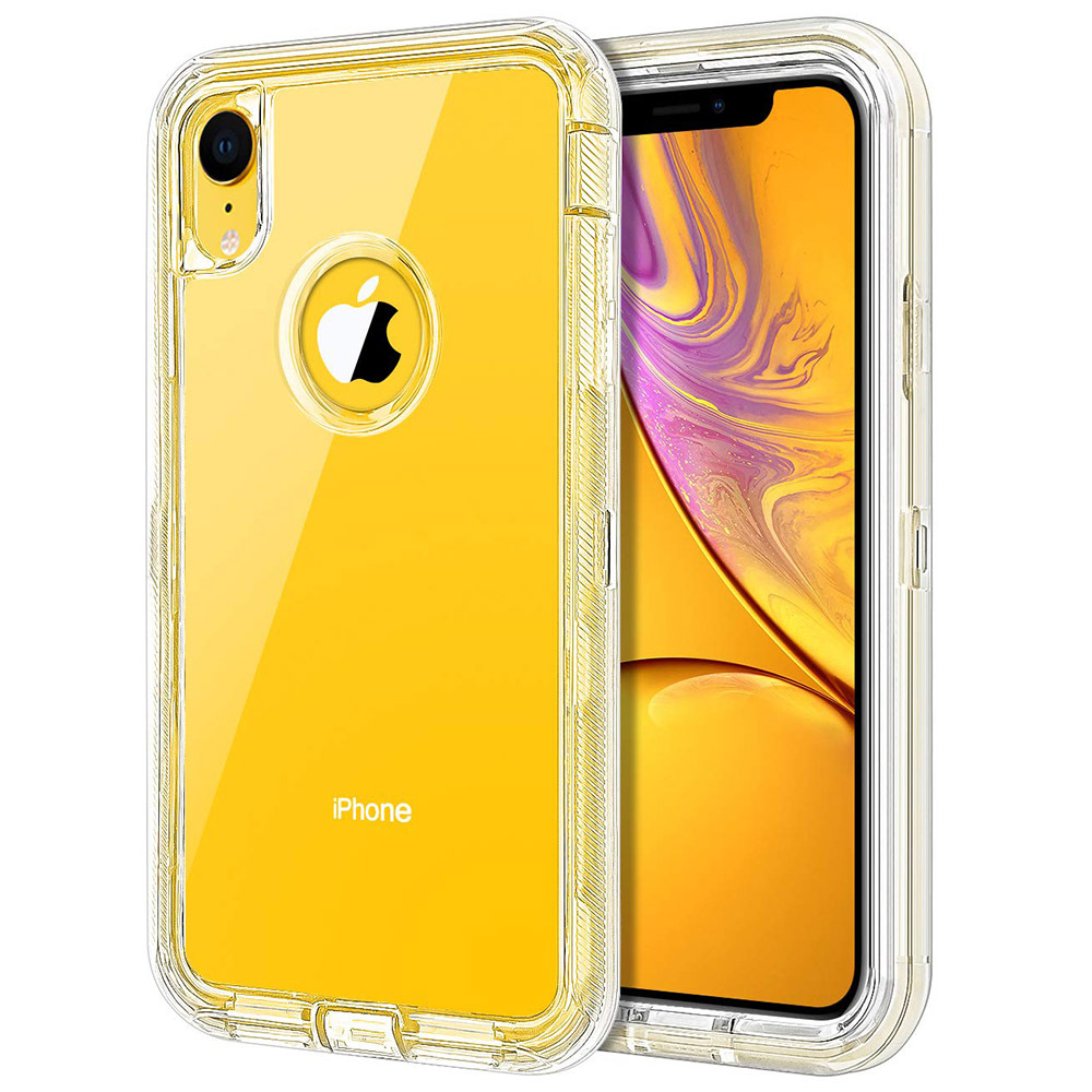 Currently Available IPhone XR Phone Case Transparent Triple Protection Three-in-One TPU + PC Shatter-resistant Protective Case A