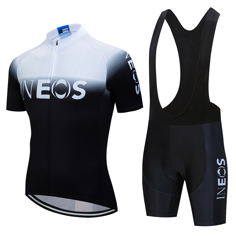 2020 WHITE INEOS Bike Jersey 19D Pad Shorts Cycling Jersey Set Ropa Ciclismo Quick Dry Mens Pro BICYCLING Maillot Culotte
