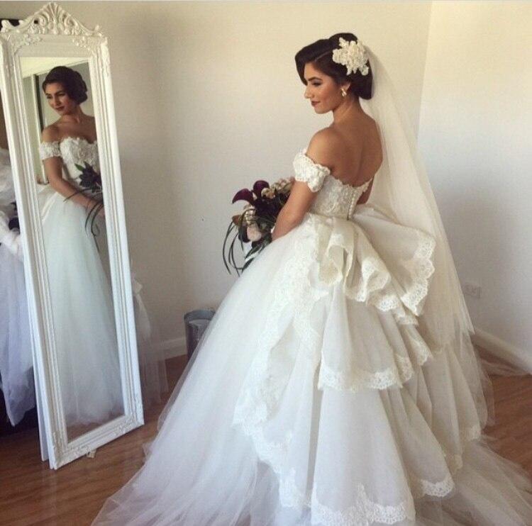 2018 Gorgeous Off The Shoulder Bridal Ball Gown Sweetheart Vestido De Novia Robe De Mariee Mother Of The Bride Dresses