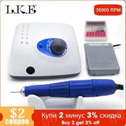 LKE, новинка, 65 Вт, 210, 102л, безщеточный аппарат для маникюра, педикюра, электрический, мощный, 35000 об/мин