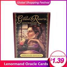 47 unids/pack Lenormand tarjetas de Oracle inglés leer misterioso ángeles destino juego de Gilt-borde Lenormand cubierta tarjeta