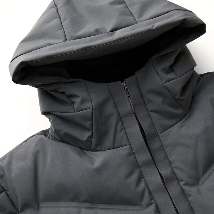 Image 4 - 2019 Long Down Jacket Hooded Men Winter Coat Hat Grey Duck Down Handsome Quality Comfortable Fashion Causal  Warm Outwear