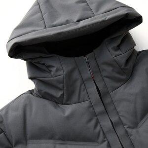 Image 4 - 2019 긴 다운 재킷 후드 남성 겨울 코트 모자 회색 오리 잘 생긴 품질 편안한 패션 인과 따뜻한 outwear