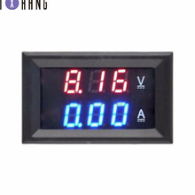 цена на DC 0-100V 10A Digital Voltmeter Ammeter Dual Display Voltage Detector Current Meter Panel Amp Volt Gauge 0.28 Red Blue LED