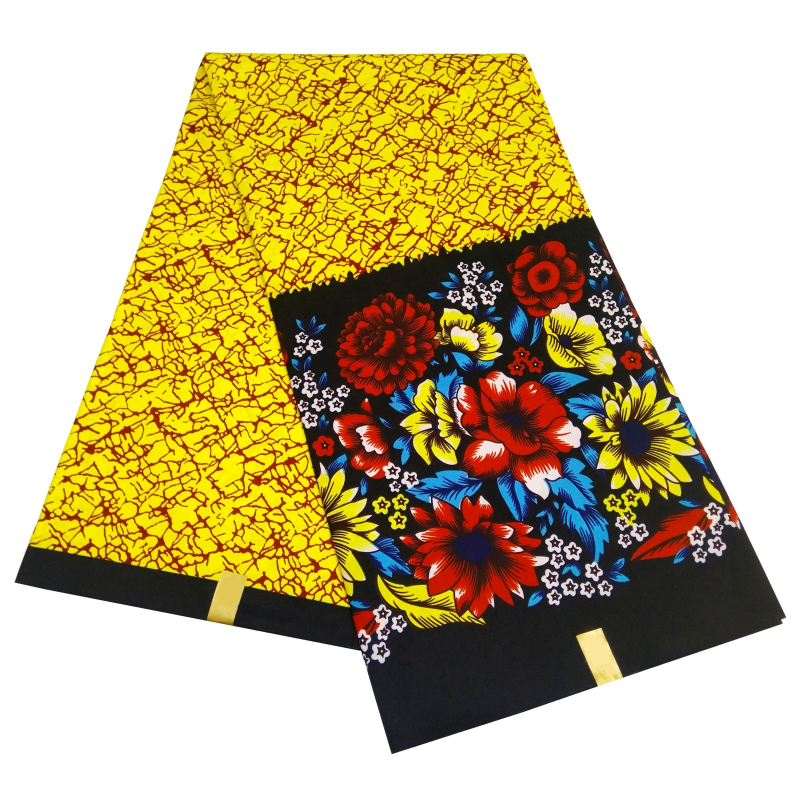 African Wax Polyester Fabric 2020 African Ankara Wax Print Fabric High Quality New Wax Print 6 Yards Fabric Pagne Wax