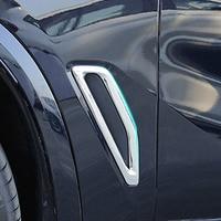 2 pçs abs chrome lado do carro ventilação de ar decoração guarnição para bmw x5 g05 2019 acessórios