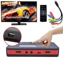 EZCAP284 USB 2,0 HDMI игровой рекордер, HD захват видеокарты, микрофон в аудио выход, циклическая коробка для потоковой трансляции груди, запись одной кнопкой