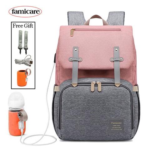 New Mummy Diaper Bag Baby Stroller Bag USB Charging Waterproof Oxford Women Handbag Maternity Nursing Nappy backpack Travel Bags Pakistan