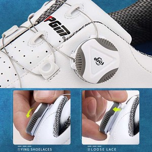 Image 4 - PGM Golf Shoes Men Anti skid Spikes Waterproof Sneakers Breathable Sports Trainers Shoes golf chaussure zapato Golf Sneakers