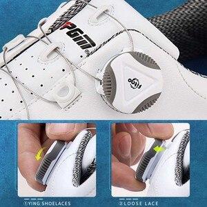 Image 4 - を PGM ゴルフシューズ男性アンチスキッドスパイク防水スニーカー通気性のスポーツトレーナー靴ゴルフ chaussure zapato ゴルフスニーカー