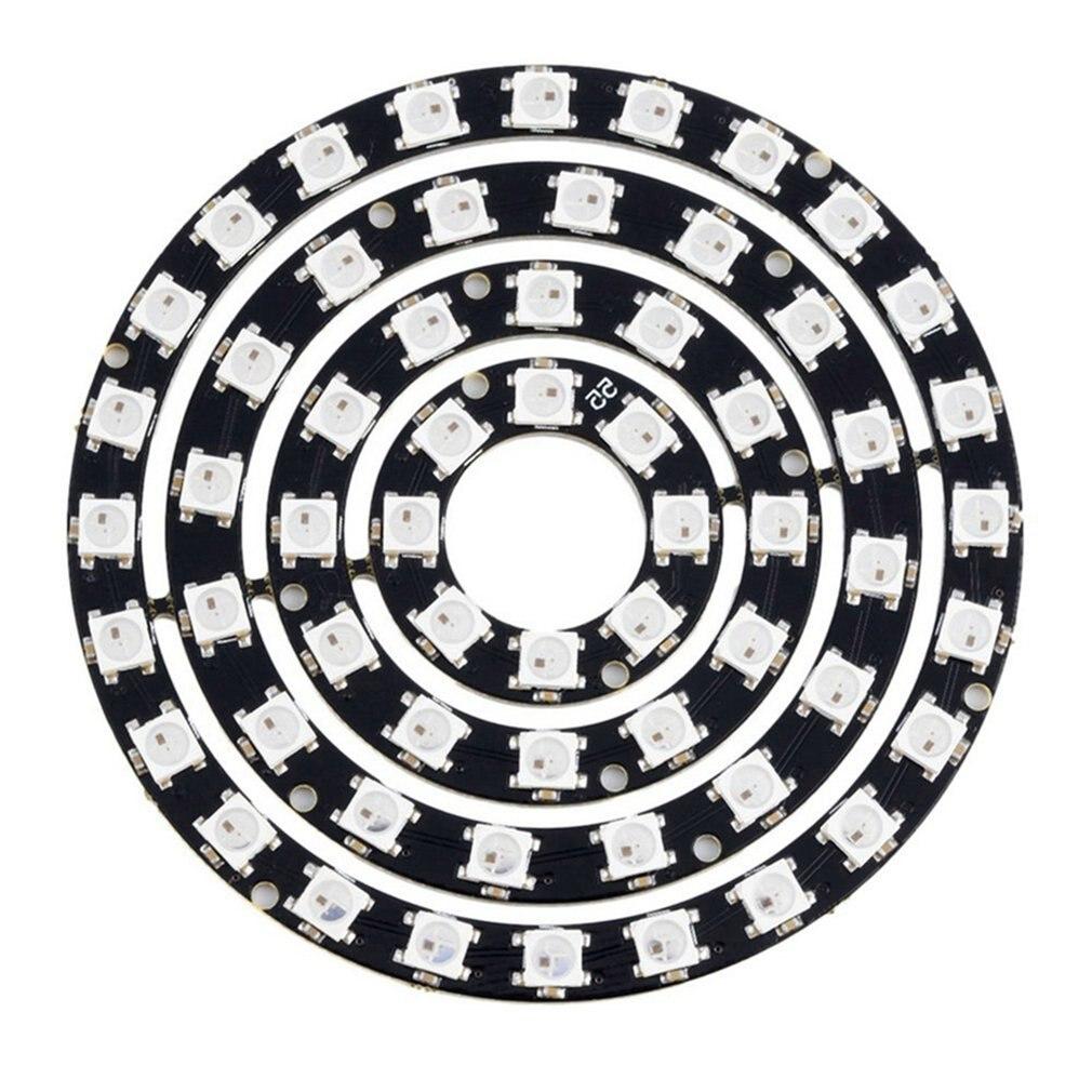 60-бит WS2812 5050 RGB светодиодный встраиваемые в полном объеме-Цвет драйвер Цвет светильник макетная плата 4-in1 RGB светодиодный кольцевой светильн...