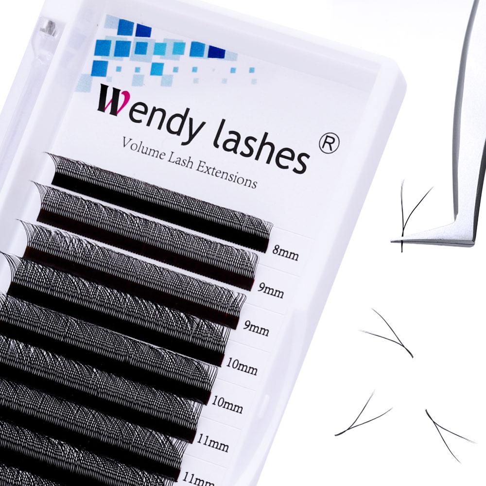 12 Rows C/D Curl YY Shape Eyelash Extensions Natural Black Soft Y Style Lash Extension Professional Use For Eyelash Salon