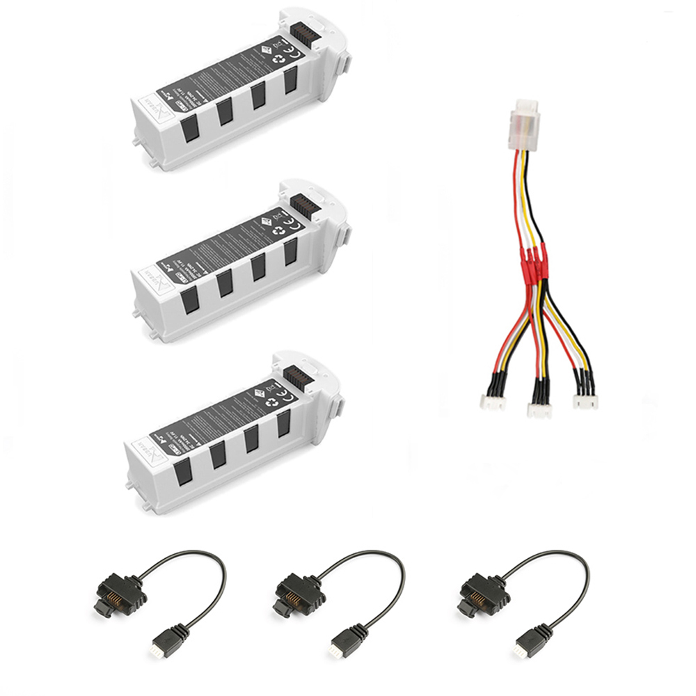 Us 6 9 Hubsan Zino H117s Accessories Battery Parallel 3 In 1 Cable Charged Charger Three Battery In The Same Time In Parts Accessories From Toys