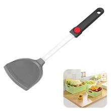 Безопасные практичные Кухонные гаджеты термостойкий силиконовый шпатель легко моющийся антипригарный с отверстием посуда для выпечки многоцелевой