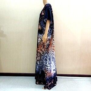 Image 3 - 2019 novo africano de manga curta vestido longo dashiki africano vestidos para as mulheres mais tamanho roupas mama