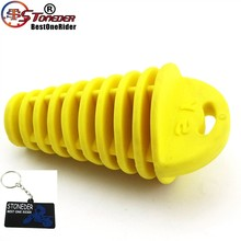 STONEDER Exhaust Muffler Bung Cleaner Black Wash Plug For Pit Dirt Bike Motorcycle Motocross Snowmobile UTV ATV Quad Yellow(China)