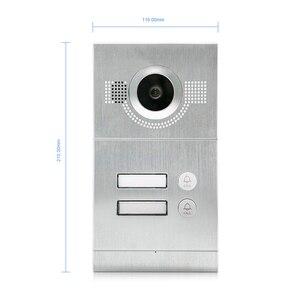 Image 5 - Homefong 7 inç Wifi görüntülü kapı telefonu daire görüntülü interkom sistemi kapı zili 2 düğme IP kablosuz erişim kontrol sistemi