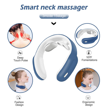 Masseur électrique intelligent du cou et des épaules outil de soulagement de la douleur soins de santé Relaxation vertèbre cervicale physiothérapie 2