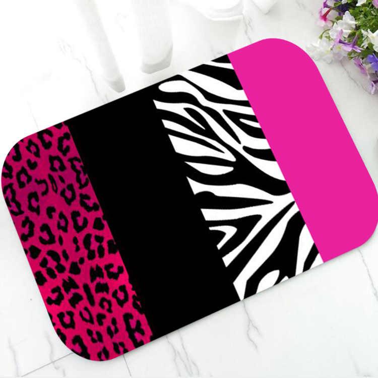 Trendy Hot Pink Leopard Zebra Door Mat Rug Carpet Red Lime Green Animal Print Welcome Doormat For Bathroom Fashion Home Decor Mat Aliexpress