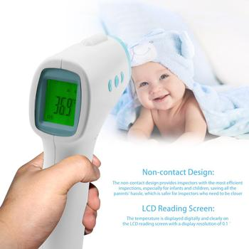 Electronic Thermometer Infrared Forehead Body Thermometer Gun Non-contact Adult Digital Human Forehead Thermometer
