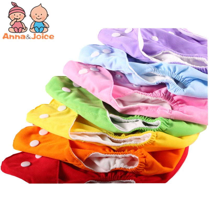 2pc Baby Adjustable Diapers/Children Cloth Diaper/Reusable Nappies/Diaper Cover/Training Pants/Washable Suit 5-14kg