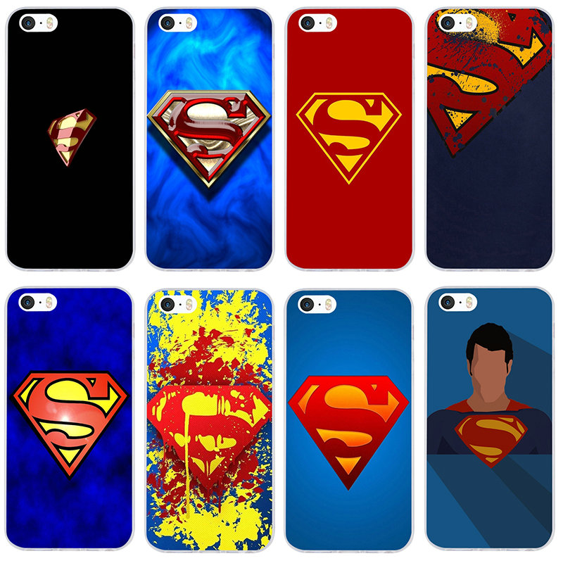 Dc Comics Superman Superman Logo For Iphone 7 6s 6 8 Plus 5 5s 5c Se X Xr Xs 11 Pro Max 4 4s Slim Soft Phone Gifts Accessories Half Wrapped Cases Aliexpress