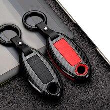 Carbon Fiber Silica Gel Car Key Cover Case For Nissan Qashqai X Trail t31 t32 kicks Tiida Pathfinder Murano Note Juke Infiniti