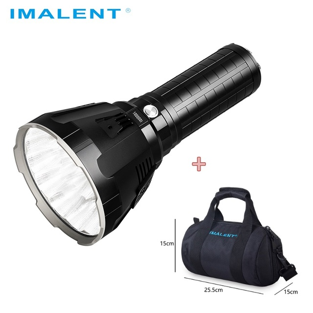 IMALENT MS18 LED Flashlight CREE XHP70.2 Waterproof Recharge Flash light with 21700 Battery + OLED Display Intelligent Charging
