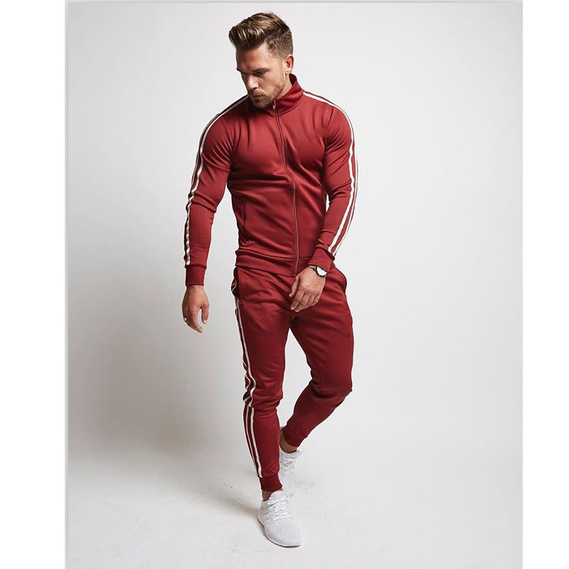 Men Brand New Sets Fashion Autumn Spring Sporting Suit Sweatshirt+Pants Mens Gyms Joggers Sweatpants Casual Sportswear Suit