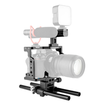 Andoer c15 câmera gaiola + alça superior + 15mm haste baseplate kit liga de alumínio com sapata fria montagem para nikon z6/z7 dslr câmera